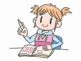 日記を書いてる女の子